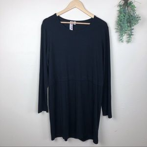 Dolan | Black Drop Waist Tunic Dress